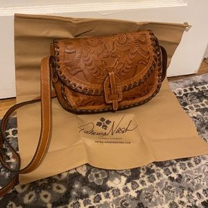 Patricia Nash Nardini leather saddle bag